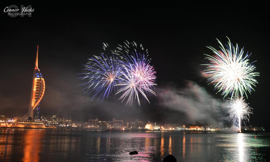 DSC 0123 311014 1024x617 Gunwharf fireworks display