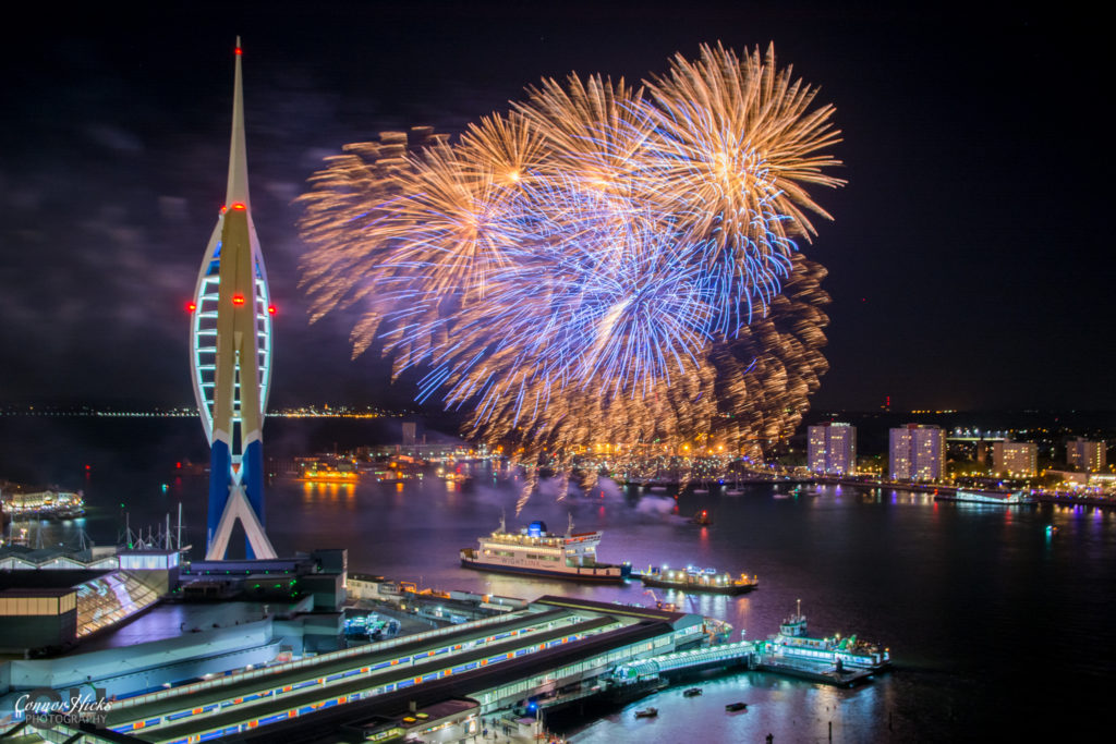 fireworks display gunwharf 2016 1024x683 Gunwharf fireworks display
