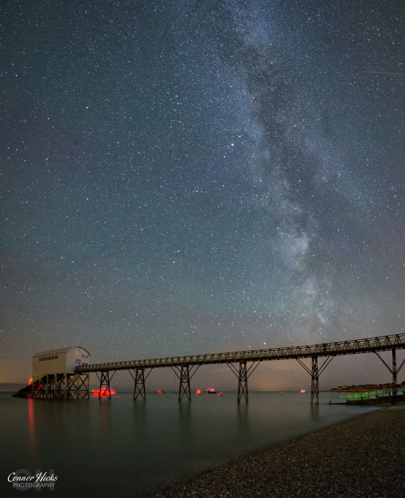 Milky Way Selsey RNLI Station West Sussex 834x1024 Astrophotography