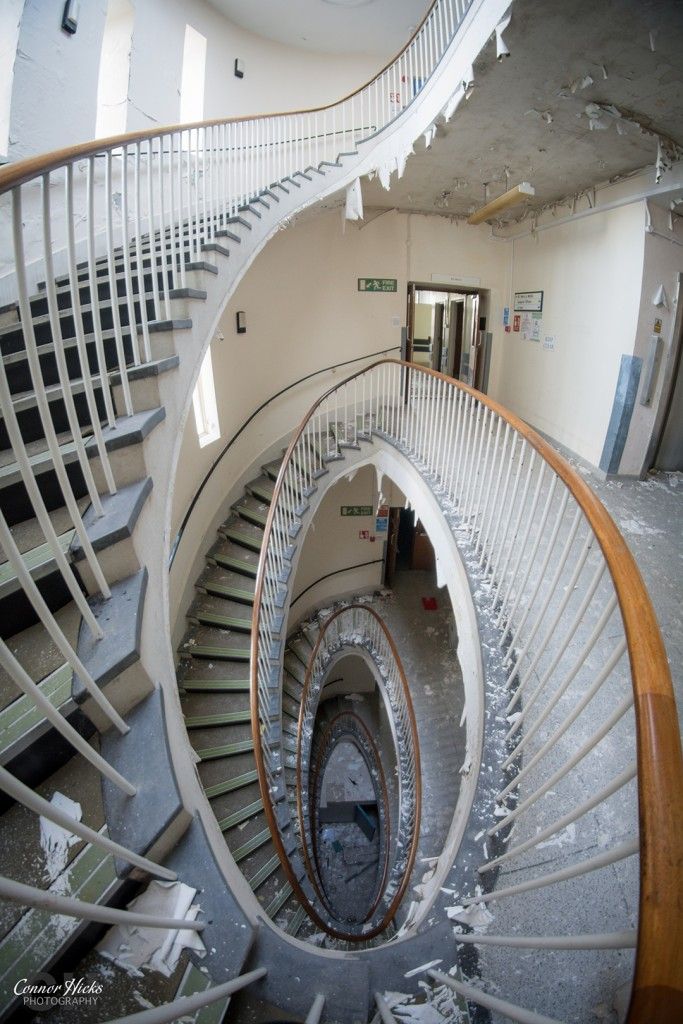 Royal Haslar Hospital Spiral Staircase 683x1024 The Royal Hospital Haslar, Gosport