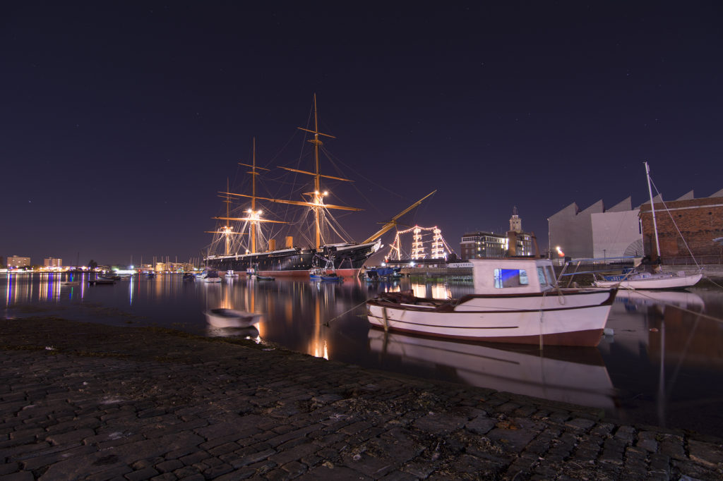 Hms Warrior Portsmouth Night Photography 1024x682 Travel