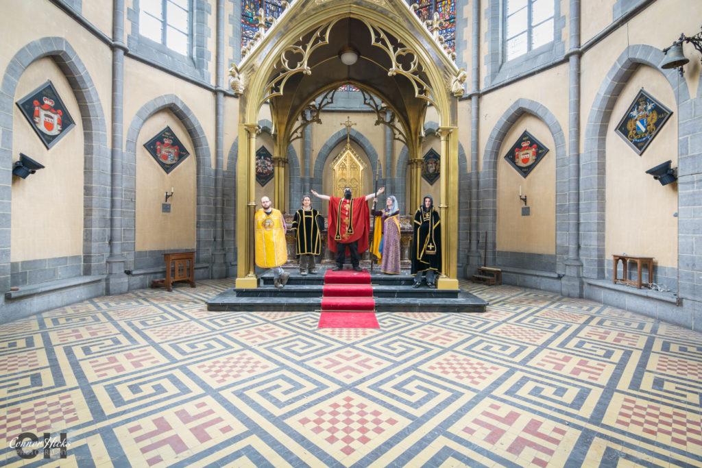 cliffhanger church urbex group shot 1024x683 Cliffhanger Church, Belgium