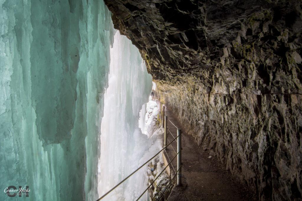 Frozen Gorge In Austria