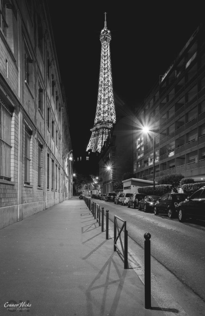 Paris Eiffel Tower Night BNW