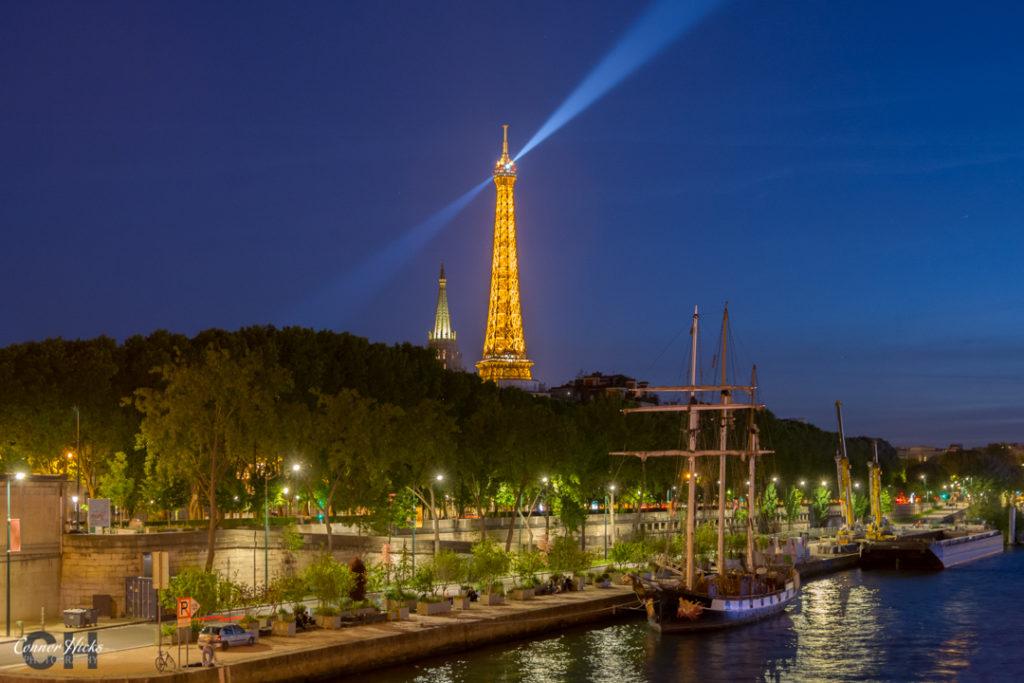 Paris Eiffel Tower Nightscape