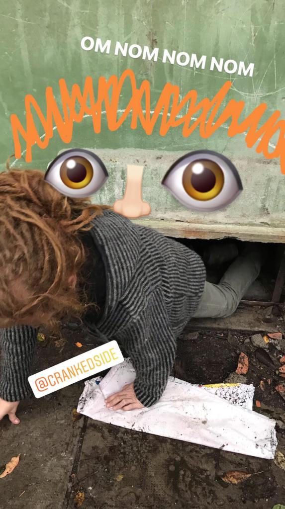 laurens being eaten 573x1024 Italian Road Trip, November 2018