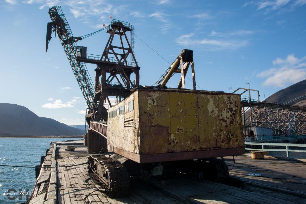 pyramiden urbex crane 1024x683 Pyramiden, Svalbard