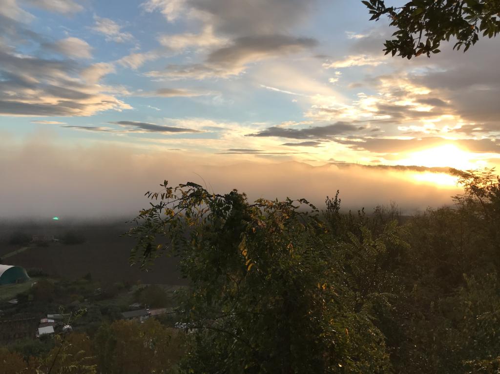 sunrise 1024x767 Italian Road Trip, November 2018